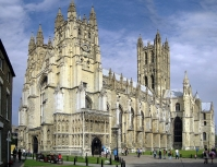 Canterbury Cathedral: West Front, Nave and Central Tower.  Watch The Secret Behind Secret Societies on ADtv for more information.