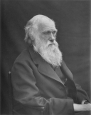 Charles Darwin. https://commons.wikimedia.org/wiki/File:1878_Darwin_photo_by_Leonard_from_Woodall_1884_-_cropped_grayed_partially_cleaned.jpg