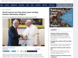 <p><span>Israeli government sources claim Francis is apparently thinking of calling a meeting between leaders and faithful of the world&rsquo;s three biggest monotheistic religions, in Rome, to launch a message of peace, countering violence and the use of God&rsquo;s name to justify hatred and terrorist acts.</span></p> <p><span>The sources say the Pope announced his intentions during an Audience on April 30, but there was no mention of this in the communiqu&eacute; the Holy See&rsquo;s issued after the Audience. &nbsp;</span></p> <p><span>President Shimon Peres of Israel &ldquo;told the pope that there are people who use God&rsquo;s name to justify terrorism&rdquo; and religious leaders should &ldquo;say out loud that God did not give anyone permission to kill their neighbor.&rdquo;</span></p> <p><span>According to the information contained in a summary of the Audience received by the Israeli government, Francis told Peres he &ldquo;whole-heartedly supported&rdquo; his appeal against violence and that &ldquo;he wanted to promote a meeting between religious leaders and faithful of the three major religions&rdquo; founded by Abraham, &ldquo;in Rome&rdquo;. The aim would be to &ldquo;make people see&rdquo; that the religions &ldquo;oppose violence and terrorism.&rdquo;</span></p> <p><span>http://www.ucanews.com/news/israeli-sources-say-pope-plans-peace-meeting-between-abrahamic-religions/68380</span></p>