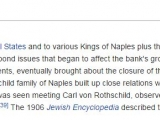 "<p>The 1906 Jewish Encyclopedia described the Rothschild's as ""the guardians of the papal treasure"". ""Rothschild"". Jewish Encyclopedia, 1901–1906, Vol. 2, p. 497 </p> <p>https://en.wikipedia.org/wiki/Rothschild_family</p>"