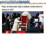 <p>https://www.ncronline.org/blogs/francis-chronicles/pope-charismatic-rally-stadium-invites-them-vatican-2017</p>