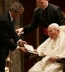 <p>George W. Bush with Pope John Paul II in 2004</p>