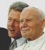 <p>Bill Clinton with Pope John Paul II in 1993</p>