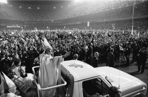 Pope John Paul II's first visit to the United States, 1979. Watch A New World Order on ADtv for more information.