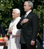 <p>Pope Benedict XVI with George W. Bush.</p>