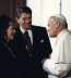 <p>Reagan and the Pope, 1982.</p>