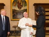 <p><em>Donald Trump, Pope Francis and Melania Trump in 2017.<br /></em></p>