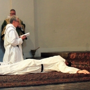 Clergy at Holy Cross Monastery in New York invoke the Holy Spirit. Source: Randy OHC on Flickr.