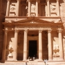 The treasury at ancient Petra, carved out of a sandstone rock face. Source:  Flickr.