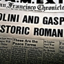 The San Francisco Chronicle issue featuring Mussolini and Gasparri's pact.