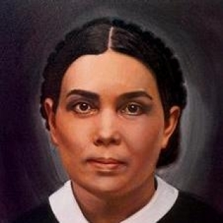 An artist's representation of Ellen White. Source Loma Linda University Archives.