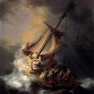 Rembrandt's depiction of the storm Jesus calmed. Public Domain. https://commons.wikimedia.org/wiki/File:Rembrandt_Christ_in_the_Storm_on_the_Lake_of_Galilee.jpg