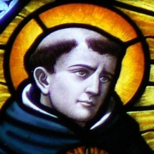 A depiction of Thomas Aquinas in a Belgian cathedral. Source: Wikimedia Commons.
