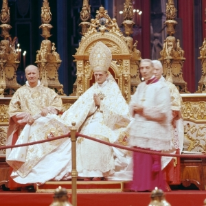 The Pope presiding over Vatican II.   Read more about Vatican II's influence on world unity. Ever since the Vatican II Council, the Papacy has been working to bring about unity of all churches under the authority of Rome. This has been achieved through a variety of means, including through the introduction of ecumenical thinking in institutes of advanced learning, emphasizing liturgy over the Word in church services, and the introduction of musical
