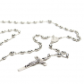 Catholic rosary beads. CC BY-SA 3.0 Aprilwine https://commons.wikimedia.org/wiki/File:SilverRosary.png