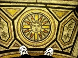 <p>On the floor of St. Paul's Cathedral, we find the solar deity depicted with straight and curved rays. These symbols are also associated with Catholicism. These signs and symbols indicate that the Church of England is no longer Protestant, but has joined forces with Catholicism. </p>