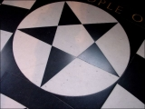 "<p>A black and white pentagram on the floor in St. Paul's Cathedral, London. Pentagrams and the colors black and white are associated with occultism and Freemasonry. <br /><br /></p> <p>Watch our ADtv video <a href=""https://amazingdiscoveries.tv/media/137/224-that-all-may-be-one/"">That All May Be One</a>. </p>"