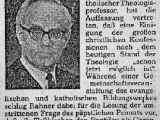 "<p>Jesuit theologian Karl Rahner was given the mandate to let the Protestant churches know that the Catholic Church no longer required them to convert, but that as long as they acknowledge the supremacy of the Catholic Church and the Pope, they might be recognized within their individual denominations as the body of Christ. <br /><br /> This theologian was influential in influencing the thinking of many others to further Papal plans for unity. <br /><br /> Rahner's motto was effectively, ""Our Lord must conform to the world, not it to Him."" Rahner's influence was enormous. He satisfied a modern world, and modern churchmen, whose ears were itching for doctrinal compromises under the pretext of ""enlightenment."" <a href=""http://www.cfnews.org/rahner.htm"" target=""blank"">Read more about Rahner from the Catholic Family News</a> <br /><br /><br /></p>"