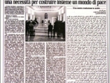 <p>The front page of the Vatican's newspaper <em>L'Osservatore Romano</em>, which published the full text in Arabic of the Pope's speech during his meeting with Muslim envoys.</p>
