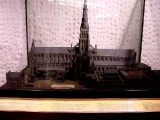 <p>A model of St. Paul's Cathedral the way it looked for centuries, before it was rebuilt to look like the Vatican. <br /><br /></p>