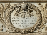 "<p>""The mother of the churches"" inscription on St. John's Lateran Church.<br /><br /> The <em>Independent</em> reported on Sept 4, 2000, that Pope Benedict XVI, then Cardinal Ratzinger, said, ""It must be always clear that the one, holy, catholic and apostolic universal church is not the sister, but the mother of all the churches."" <a href=""http://commons.wikimedia.org/wiki/File:Inscription_Ecclesiarum_Mater_San_Giovanni_in_Laterano_2006-09-07.jpg"" target=""blank""><br /><br />Learn more: </a><a href=""http://amazingdiscoveries.tv/media/132/220-232K/"" target=""blank""> view the lecture <em>A Woman Rides the Beast</em> online. </a></p>"