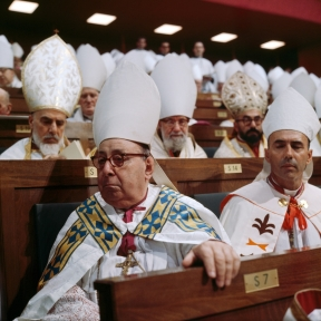 The Council Fathers seated during the Second Vatican Council. Watch our ADtv video That All May Be One.