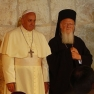 Pope Francis with Patriarch Bartholomew I in Jerusalem.  Creative Commons Attribution-Share Alike 3.0 Unported license. Nir Hason. https://commons.wikimedia.org/wiki/File:Pope_Franciscus_%26_Patriarch_Bartholomew_I_in_the_Church_of_the_Holy_Sepulchre_in_Jerusalem_(1).JPG