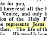 <p>The Pope represents Jesus Christ Himself</p> <p>A letter from Cardinal Giuseppe Sarto (who became Pope Pius X in 1903) as quoted in <em>Publications of the Catholic Truth Society</em> Volume 29 (Catholic Truth Society: 1896): 11. http://books.google.ca/books?id=NIkQAAAAIAAJ&amp;pg=RA2-PA10&amp;redir_esc=y#v=onepage&amp;q&amp;f=false</p>