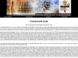 <p>We declare, we proclaim, we define that it is absolutely necessary for salvation that every human creature be subject to the Roman Pontiff Pope Boniface VIII,</p> <p><em>Unam Sanctam</em> (Rome: Novmeber 18, 1302): http://www.papalencyclicals.net/Bon08/B8unam.htm</p>