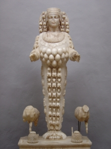 Artemis, also known as Diana of Ephesus, with her many breasts to nurture the world.