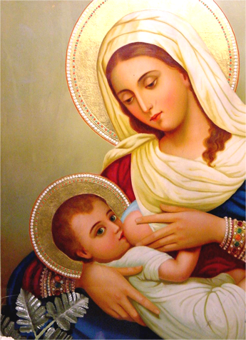 Icon Mary Breastfeeding Jesus