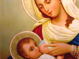 "<p>The icon of Mary in the milk grotto in Bethlehem.<br /><br /> The Catholic Church has elevated Mary to the level of mediator, advocate, and co-redeemer of humanity. In 1854, Pope Pius IX declared Mary ""immaculate,"" and in 1951, Pope Pius XII defined and enforced the doctrine of the Bodily Assumption of Mary, thus placing Mary in a position to act as mediator. <br /><br />This is what they believe according to <em>Catholic Laymen</em>, July 1856: ""The sinner that ventures directly to Christ may come with dread and apprehension of his wrath; but let him only employ the mediation of the Virgin with her Son and she has only to show that Son the breasts that gave him suck and his wrath will immediately be appeased."" </p>"