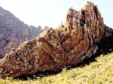 "<p>If layers of strata were deposited rapidly, then this would suggest that these features were still soft when uplifted to form continents. During continent and mountain up-lift, these layers would fold because they had not yet turned to rock. This folding can be seen here, in the Swartberg range in South Africa.</p> <p>Watch our series <a href=""https://amazingdiscoveries.tv/c/10/Genesis_Conflict_-_English/"">Genesis Conflict on ADtv</a> for more information. </p>"