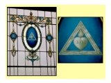"<p>The Jesuit symbol and motto ""IHS"" on a Masonic temple's stained-glass window. <a title=""Read our article: Jesuits Behind Politics"" href=""../S-deception-Jesuits_French_Reformation_Hitler"" target=""blank"">The Jesuits control Freemasonry</a>.<br /><br /></p>"