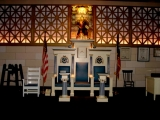 <p>Inside a Masonic Lodge.</p>
