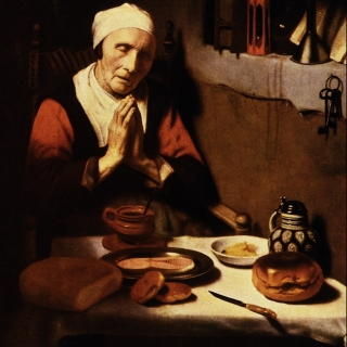 Praying Woman.  Public Domain. https://commons.wikimedia.org/wiki/File:An_Old_Woman_Praying_-_Nicolaes_Maes.png