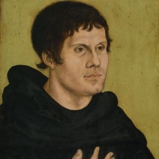 Martin Luther.  Public Domain https://commons.wikimedia.org/wiki/File:Portrait_of_Martin_Luther_as_an_Augustinian_Monk.jpg