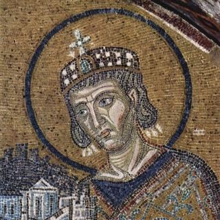 Constantine. Public Domain https://commons.wikimedia.org/wiki/File:Byzantinischer_Mosaizist_um_1000_002.jpg