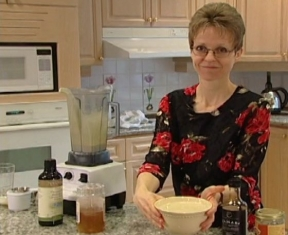 Jeanie Davis and her Creamy Tahini Dressing.