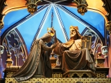 "<p>Jesus crowns Mary in this artwork in a Catholic Church in Quebec.&nbsp;Watch our ADtv video about the&nbsp;<a href=""https://amazingdiscoveries.tv/media/132/219-the-wine-of-babylon/"">Wine of Babylon</a>&nbsp;for more information.&nbsp;</p>"