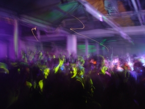 A rave in a London, England warehouse.Source: Dominic Simpson on Flickr.