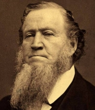 Mormon leader and founder of Salt Lake City Brigham Young (1801-1877).Source: Public Domain Wikimedia Commons.