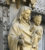 "<p>A statue of Mary and Jesus at Westminster Abbey. Notice the globe Jesus is holding. <br />Source:<a href=""http://www.flickr.com/photos/35409814@N00/2422325283"" target=""_blank"">Flickr</a>.</p>"