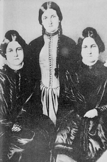The Fox Sisters—Margaret, Kate, and Leah—jumpstarted modern spiritism. Source: Wikipedia.