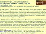 "<p>A Methodist seminar on ""guided imagery"" and ""dream remembrances"" for finding ""internal creativity and healing.""<br /><br /> Source: <a href=""http://gcdistrictumc.org/OCT2009.htm"" target=""blank""><em>Gulf Central District Newsletter</em> (October 2009)</a>.</p> <p>Watch our ADtv video on <a href=""https://amazingdiscoveries.tv/media/136/223-the-new-age-agenda/"">The New Age Agenda</a>. </p>"