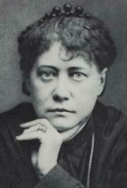 Helena Blavatsky helped found the Theosophical Society in September 1875. Her writings on esoteric spiritual knowledge are considered to be the first instance of what is now called New Age thinking.  Throughout her career she claimed to have demonstrated physical and mental psychic feats which included levitation, clairvoyance, out-of-body projection, and telepathy. Another claim of hers was materialization; that is, producing physical objects out of nothing.  She is author of the famous esoteric philosophy book Isis Unveiled..  Source: Wikimedia Commons.