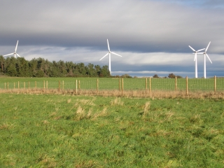 The wind turbines that support Findhorn's Ecovillage Public Domain https://commons.wikimedia.org/wiki/File:Findhorn_wind_turbines.jpg
