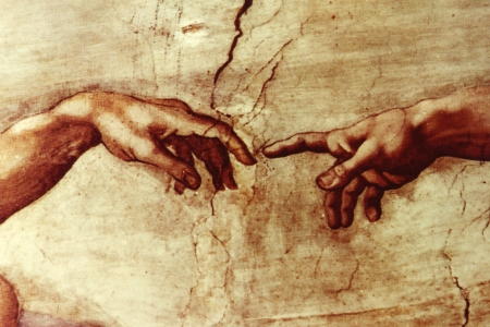 Public Domain https://commons.wikimedia.org/wiki/File:Hands_of_God_and_Adam.jpg