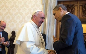 Public Domain https://commons.wikimedia.org/wiki/File:President_Barack_Obama_with_Pope_Francis_at_the_Vatican,_March_27,_2014.jpg