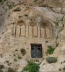 "<p>An ancient pagan place of worship built into the hillside in Syria where the monastery of Saydanaya is located. The pagan worship cave is sealed with the black iron door. Triple arches were common in pagan worship and are also used in Mary veneration. On the top of this hill is a monastery containing a <a title=""Syrian Icon, Weeping Statues Gallery"" href=""../albums.html?action=picture&aid=5423351265370254289&pid=Saydanaya+icon.jpg"" target=""blank"">painting that drips oil</a>. Catholic structures are often built over ancient pagan sites. <br /><br /></p>"